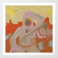 Martian Art Print
