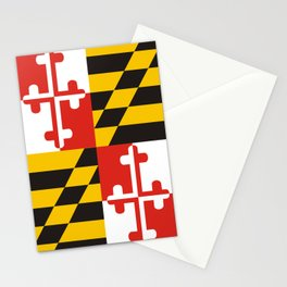 maryland state state flag united states of america country Stationery Cards