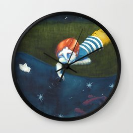 Fishes and stars Wall Clock