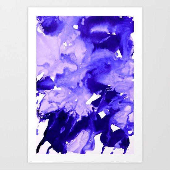 inkblot marble 7 Art Print