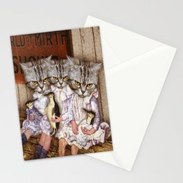 Three Alley Cat Sisters and the World of Mirth Stationery Cards