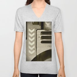 Road Roller Chevron 05 - Industrial Abstract Unisex V-Neck