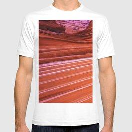 Red Rock Canyon Wall Close-Up Art Photo T-shirt
