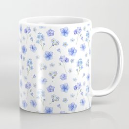 Elegant blush blue yellow watercolor floral pattern Coffee Mug
