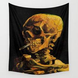 Van Gogh, Skull of a Skeleton with Burning Cigarette  – Van Gogh,Vincent Van Gogh,impressionist,post Wall Tapestry