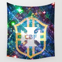 brazil Wall Tapestries featuring Brazil Logo by Cr7izbest