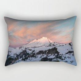 Mount Baker Mountain Adventure Sunset - Nature Photography Rectangular Pillow