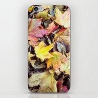 blanket iPhone & iPod Skins featuring autumn blanket by Bonnie Jakobsen-Martin