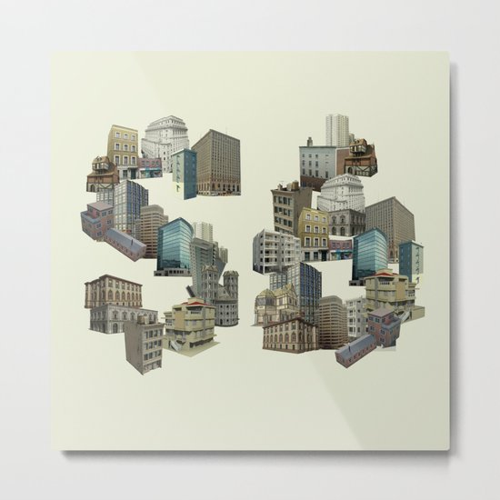 Artitecture colour Metal Print