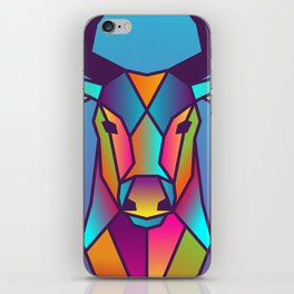 Deer | Geometric Colorful Low Poly Animal Set iPhone Skin