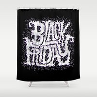 friday Shower Curtains featuring Black Friday by Chris Piascik