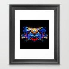 Red Beast Crowned in Blue Framed Art Print