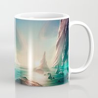 titan Mugs featuring Titan Coast by Carles Marsal