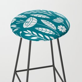 Blooming Field - teal Bar Stool