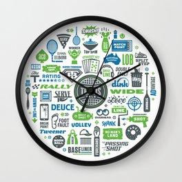 TennisTalk Wall Clock