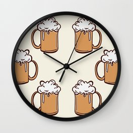Three Cheers for Beers Wall Clock