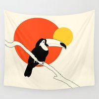 toucan Wall Tapestries featuring Toucan by Rebekhaart