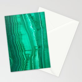 Malachite Stone Stationery Cards