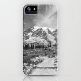 Trail Up Rainier iPhone Case