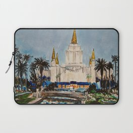 Oakland California LDS Temple Dusk Laptop Sleeve
