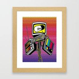 """""""Anti-Media for the Masses"""" poster Framed Art Print"""