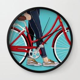 Girl Bike Wall Clock