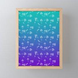 Peacock Pattern Framed Mini Art Print