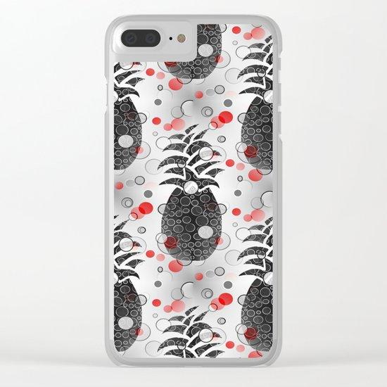 Pineapple Arrangement Clear iPhone Case