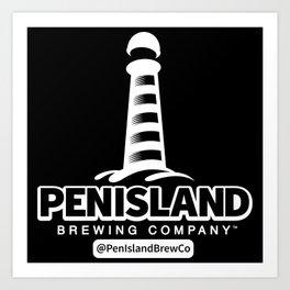 Pen Island Brewing Company Reverse Art Print