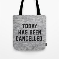 xbox Tote Bags featuring Today has been Cancelled by Text Guy