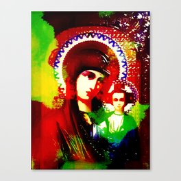 Psychedelic Mother of God - Infrared (The Technicolor Saints) Canvas Print