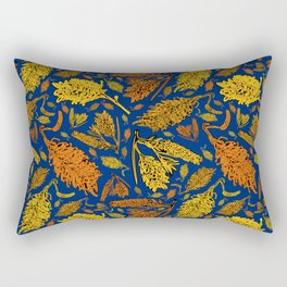 Bright Australian Native Floral Print Rectangular Pillow