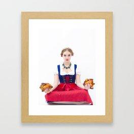 Lola Chicken Buddha Framed Art Print