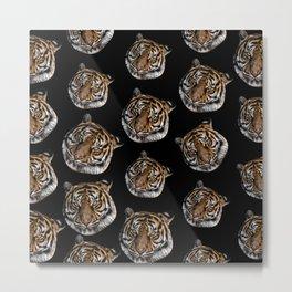 wild safari jungle animal tiger head Metal Print