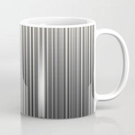 Soft Industrial Cream and Black Blended Random Vertical Lines Coffee Mug