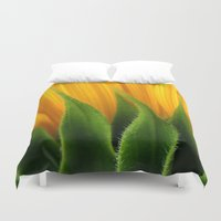 sunflower Duvet Covers featuring Sunflower  by TDSWHITE