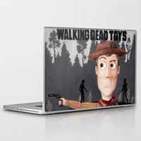 toy story Laptop & iPad Skins featuring The Walking Dead Toy Story (Woody Grimes) by Missy Corey