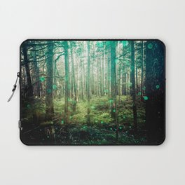 Magical Green Forest - Nature Photography Laptop Sleeve