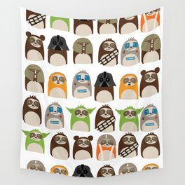 Science Fiction Sloths Wall Tapestry