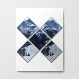 Abstract Diamond Mountains Metal Print