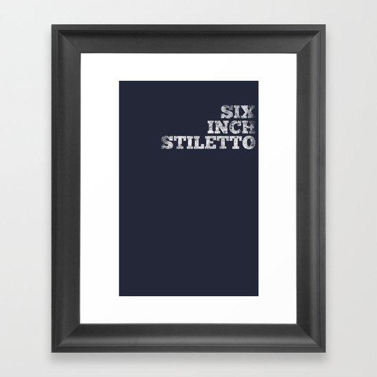 Tee Framed Art Print