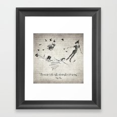 Peter Pan Quote Framed Art Print