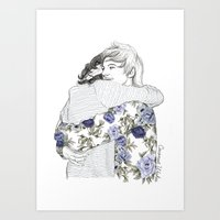 coconutwishes Art Prints featuring Larry by Coconut Wishes