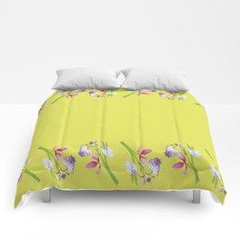 Beautiful Spring Irises Comforters