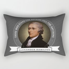 Alexander Hamilton U.S. Founding Father Quote Rectangular Pillow