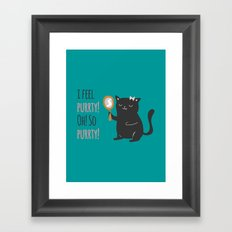 Catty Thoughts! Framed Art Print