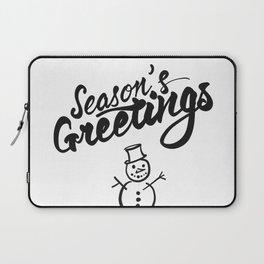 Seasons Greetings lettering Laptop Sleeve