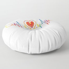 Heartbeat For Peace & LGBT Floor Pillow