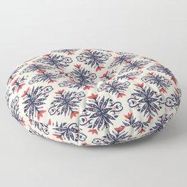 Scandinavian Flower Pattern Floral Vintage Style Floor Pillow