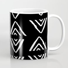 mudcloth 16 minimal textured black and white pattern home decor minimalist beach Mug